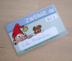 Kundenkarte bei ZWERGE.de