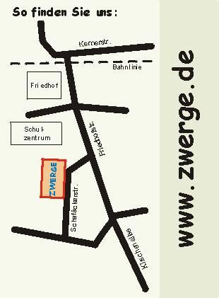 Anfahrtsplan - Der Weg zu ZWERGE.de
