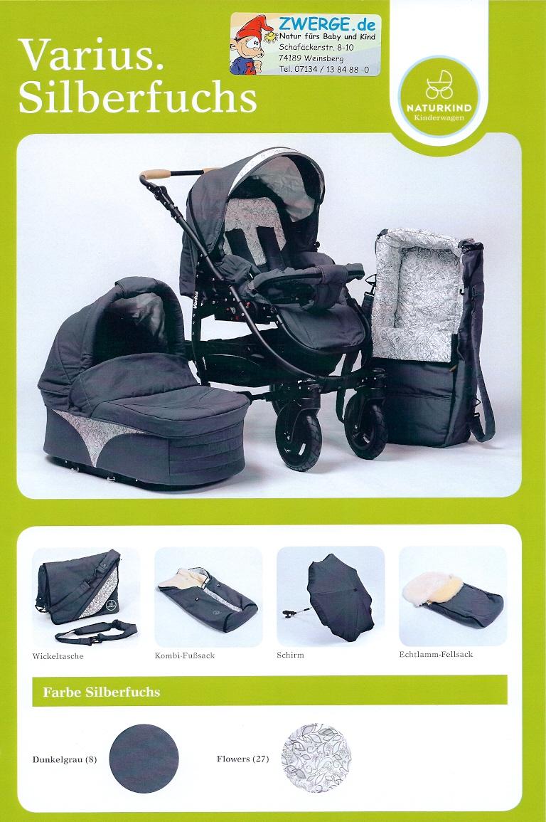 Design Silberfuchs für den Kinderwagen Varius