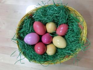Ostereier gefärbt mit Naturfarben von ökoNORM