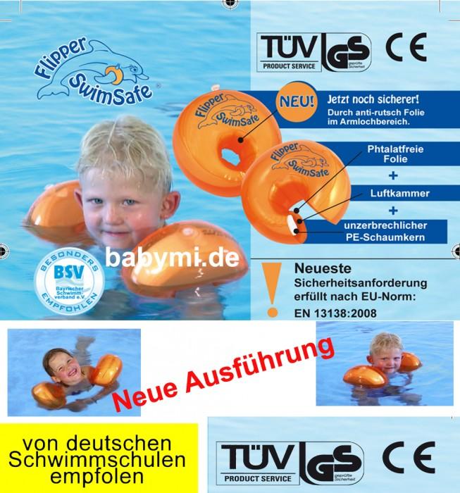 Flipper Swimsafe - Schwimmhilfen mit Luftkammer und PE-Schaumkern