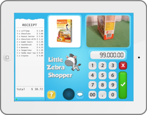 Ipad mit installierter App Little Zebra Shopper